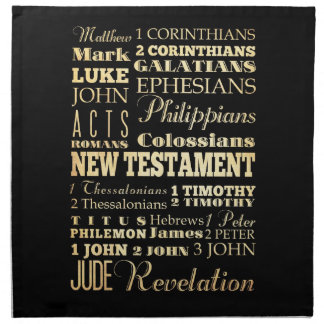 Christian Art - Books of the New Testament. Cloth Napkin
