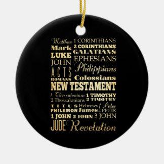 Christian Art - Books of the New Testament. Christmas Tree Ornaments