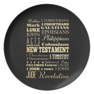 Christian Art - Books of the New Testament. Dinner Plates