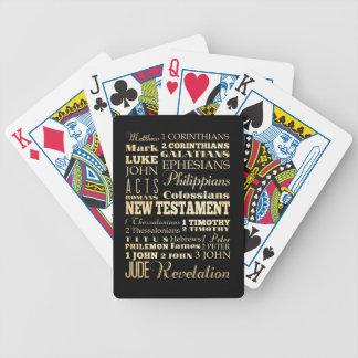 Christian Art - Books of the New Testament. Poker Deck