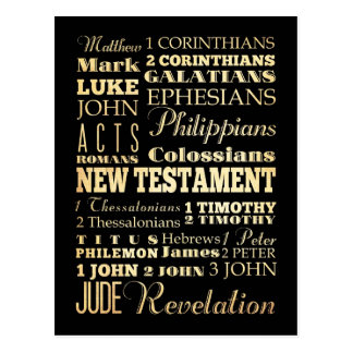 Christian Art - Books of the New Testament. Postcard
