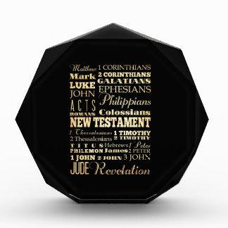 Christian Art - Books of the New Testament. Acrylic Award