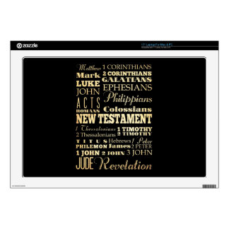 """Christian Art - Books of the New Testament. Decals For 17"""" Laptops"""