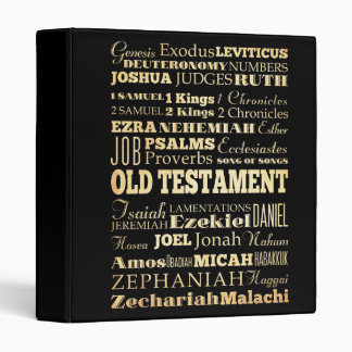 Christian Art - Books of the Old Testament. 3 Ring Binder