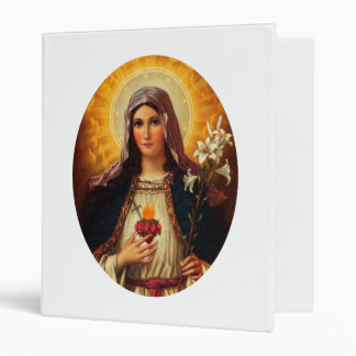 Christian Art of Sacred Heart of Jesus and Mary Binder