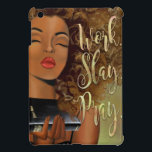 """Christian Art Work Slay Pray iPad case<br><div class=""""desc"""">This design was created inspire women of color. It is vital we celebrate life's journey with all its complications and uncertainties! The affirmation Work Slay Pray will empower you to reach out and aim high through all your trials, tests and battle wounds. Remember to believe in yourself, achieve your goals,...</div>"""