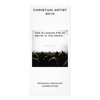 Christian Artist 2010 Customizable Rack Card