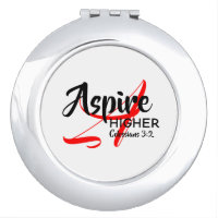 Christian ASPIRE HIGHER Inspire Achieve Monogram Compact Mirror