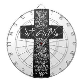 Christian Atonement Cross - Romans 3:23 John 3:16 Dart Boards