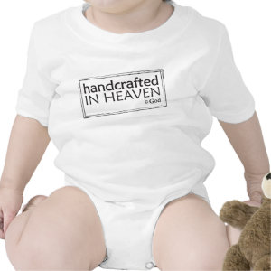 Christian baby vest - Handcrafted in Heaven shirt