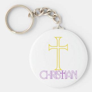 Christian Basic Round Button Keychain