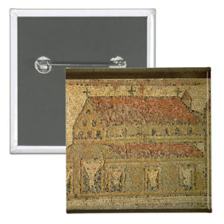 Christian basilica, mosaic pavement, Roman period, 2 Inch Square Button