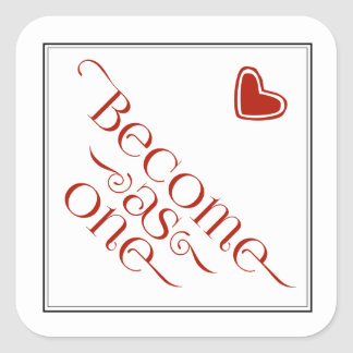 Christian Become as One Black & Red Heart Sticker