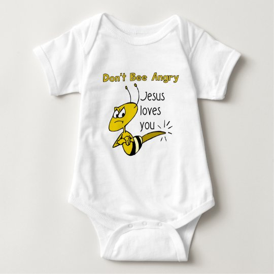 Christian bee design, Don't bee angry Baby Bodysuit