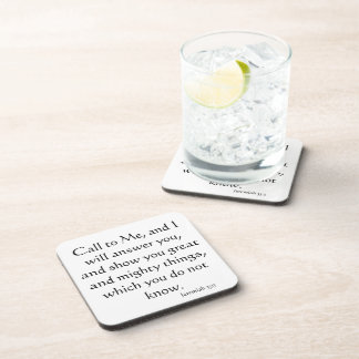 Christian Believer Bible Inspirational Jesus Drink Coaster