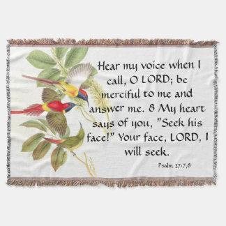 Christian Believer Bible Inspirational Jesus Throw
