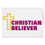 Christian Believer religious gift Card