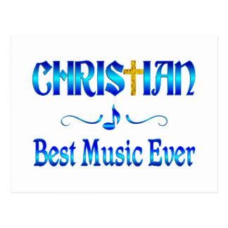 Christian Best Music Postcard