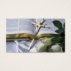 Christian Bible Business Card-see Back Business Card at Zazzle