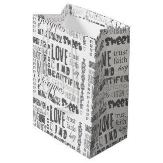 Christian Bible  Corinthians Faith Hope Love Medium Gift Bag