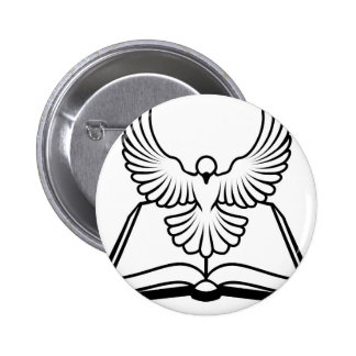 Christian Bible Dove Concept Pinback Button