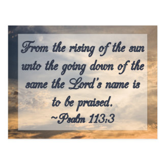 Christian Bible Scripture Inspiration Psalm 113:3 Postcard