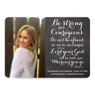 Christian Bible Verse Custom Photo Graduation Card