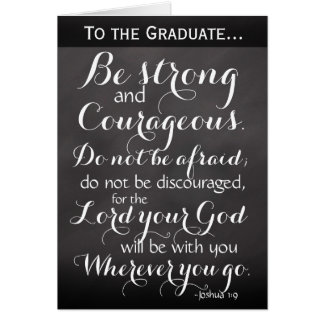 Christian Bible Verse Graduation Congratulations Card