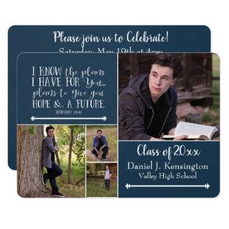 Christian Bible Verse Graduation Photo Collage Card