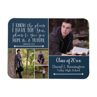 Christian Bible Verse Graduation Photo Collage Magnet
