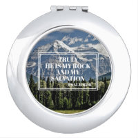 Christian Bible Verse He is my Rock Mountain Compact Mirror