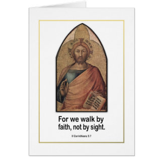Christian Bible Verse ~ II Corinthians 5:7 Stationery Note Card