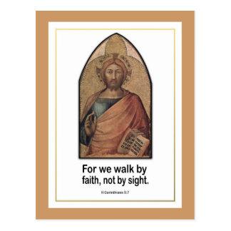 Christian Bible Verse ~ II Corinthians 5:7 Postcard