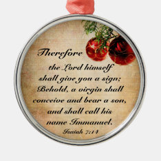 Christian Bible Verse Isaiah 7:14 Ornament at Zazzle