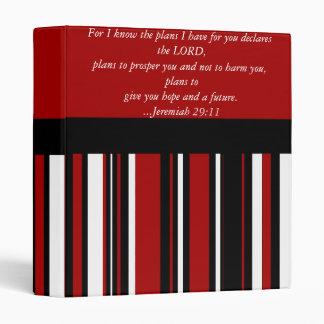 Christian Bible Verse Jeremiah 29:11 Scripture 3 Ring Binder