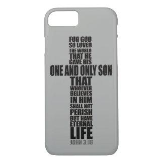Christian Bible Verse John 3:16 iPhone 7 Case