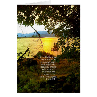 Christian Bible Verse Lake Landscape Creationarts Card