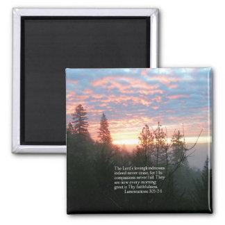 Christian Bible Verse Lake Landscape Creationarts Magnet