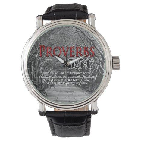 Christian Bible Verse Proverbs 3:5-6 Religious Wrist Watch