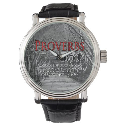 Christian Bible Verse Proverbs 3:5-6 Religious Wrist Watch