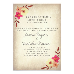 Verse Rustic Country Fl Card