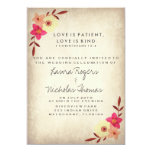 Christian Bible Verse Rustic Country Floral 5x7 Paper Invitation Card
