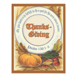 Christian Bible Verse Thanksgiving Custom Invite
