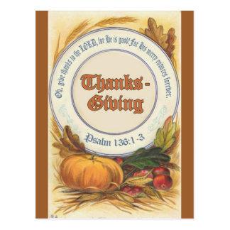 Christian Bible Verse Thanksgiving Postcard