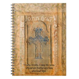 Christian Biblical Quote Renaissance Cross Journals