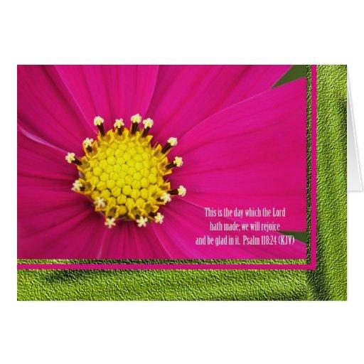 Christian Birthday Card -- Psalm 118 verse 24