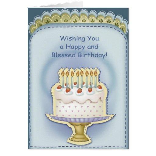 Birthday Wishes Christian Greeting ~ Christian birthday greeting card zazzle