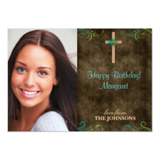 Christian Birthday Party Photo I can do all things 5x7 Paper Invitation Card