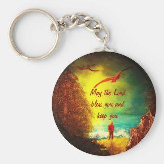 Christian Blessing Keychain