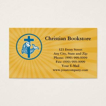 Professional Business Christian Bookstore Business card